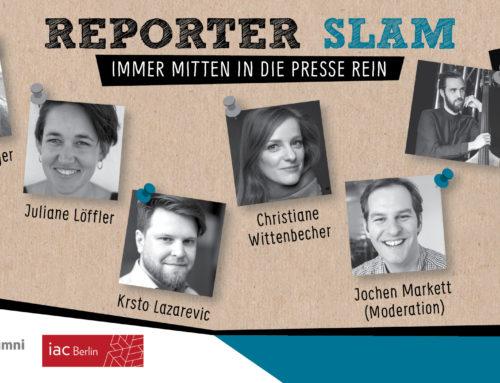 Reporter Slam Berlin verschoben