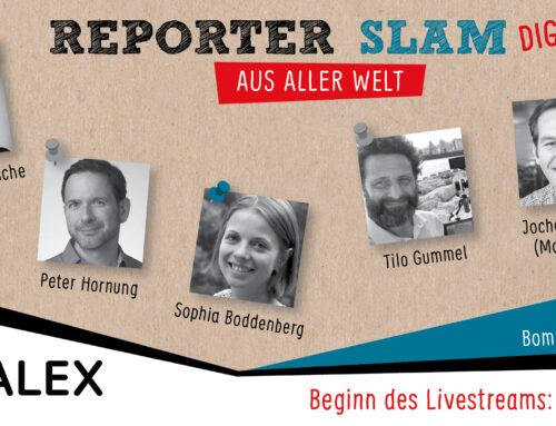 24. April, 20 Uhr: Reporter-aus-aller-Welt-Slam Digital