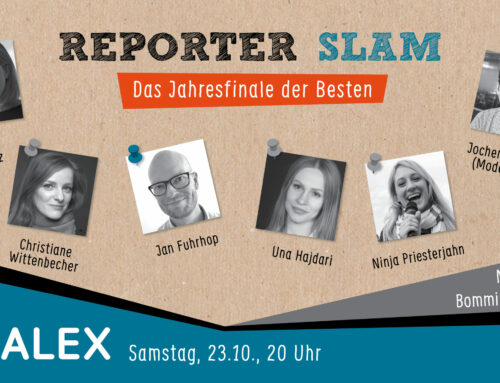 23. Okt., 20 Uhr: Reporter Slam Jahresfinale 2020