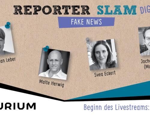 05. Juni, 19 Uhr: Reporter Slam und Online-Diskussion zu Fake News